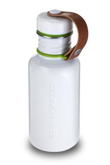 BB - Butelka na wodę stalowa, biała