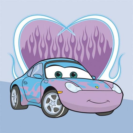 Bajkowy ręcznik 30x30 Detexpol Cars fioletowy
