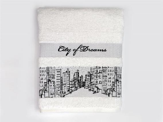 City Of Dream Biały recznik bawełniany Greno