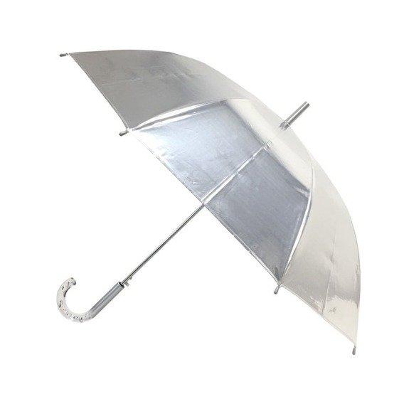 Długi parasol, metaliczny