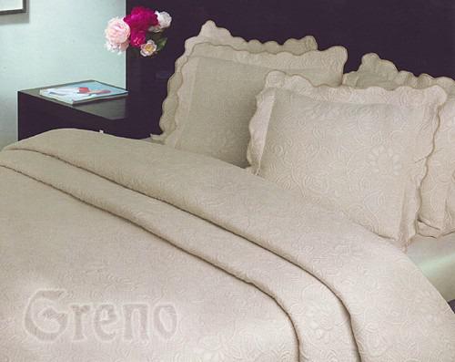 FLOWER Narzuta na fotel Greno kremowy