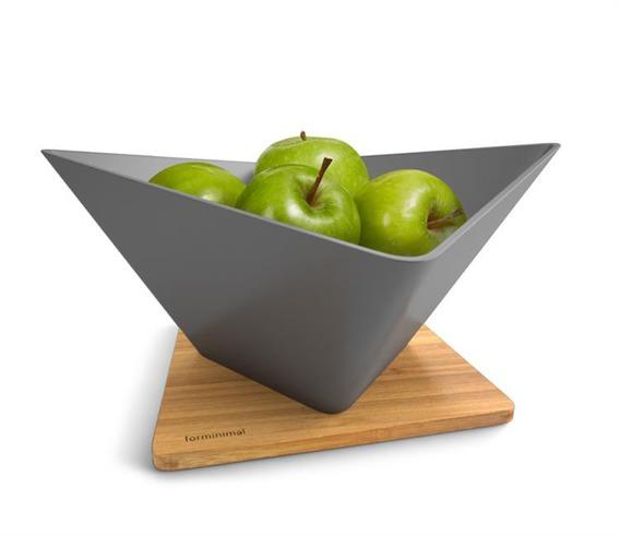 FM - Misa na owoce z podstawką, szara