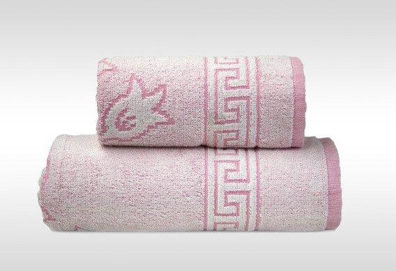Flora 2 Różowy ręcznik bawełniany GRENO