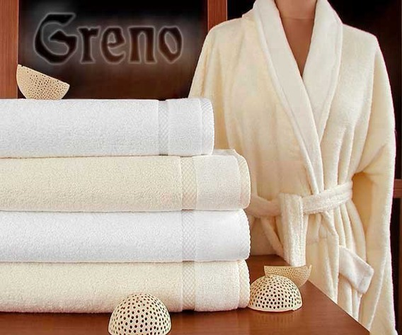 Komplet Wellness 2 ręczniki (50x90 i 70x140) + szlafrok L  GRENO biały