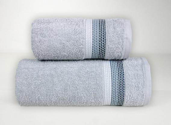 OMBRE JASNY POPIELATY ręcznik bawełniany FROTEX