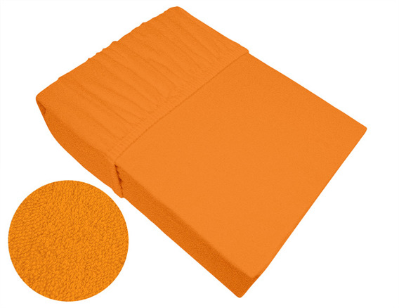 Prześcieradło frotte z gumką Frotex pomarańczowe 037