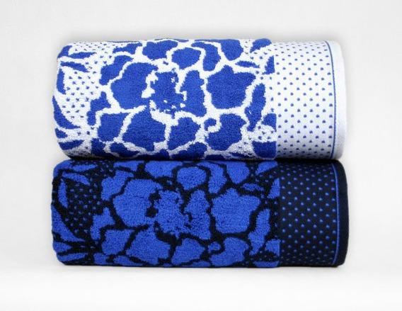 Ręcznik CODE Greno biało-niebieski