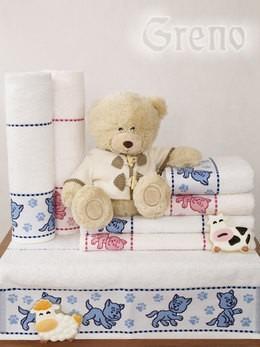 Ręcznik TOFIK Greno biało-różowy