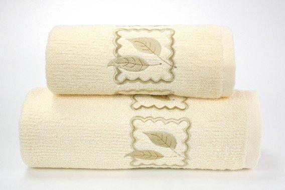 Ręcznik bawełniany GRACJA Greno kremowy