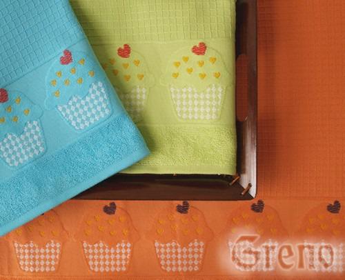 Ręcznik kuchenny CUP CAKE Greno turkusowy