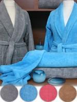 Szlafrok Silk Touch  Greno turkusowy